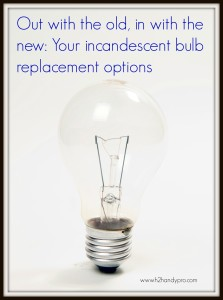 Replacement options for incandescent bulbs